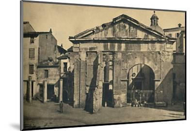 'Roma - Portico of Octavia ', 1910-Unknown-Mounted Photographic Print