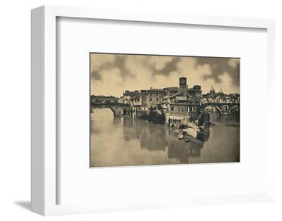 'Roma - Tiberine Island and the ancient Bridges Caestius and Fabritius', 1910-Unknown-Framed Photographic Print