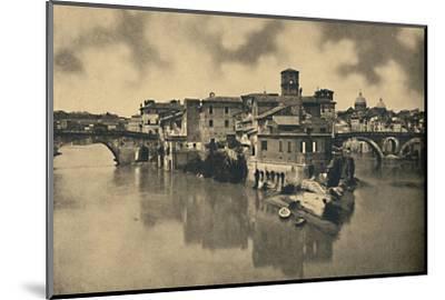 'Roma - Tiberine Island and the ancient Bridges Caestius and Fabritius', 1910-Unknown-Mounted Photographic Print