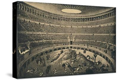 'Roma - Colosseum - Reconstruction of a hunt of wild animals', 1910-Unknown-Stretched Canvas Print