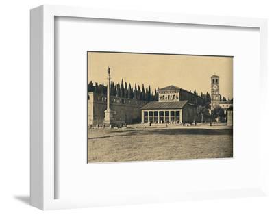 ''Roma - Basilica di S. Lorenzo fuori le Mura', 1910-Unknown-Framed Photographic Print