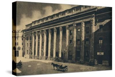 'Roma - Piazza di Pietra', 1910-Unknown-Stretched Canvas Print