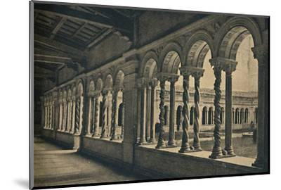 Roma - St. Paul without the Walls - Cloister of the Monastery of the Benedictine Monks-Unknown-Mounted Photographic Print