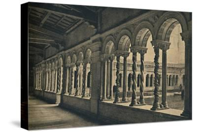 Roma - St. Paul without the Walls - Cloister of the Monastery of the Benedictine Monks-Unknown-Stretched Canvas Print