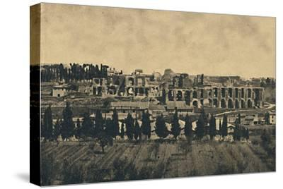 'Roma - Grand remains of the substructures of the palace of Septimius Severus', 1910-Unknown-Stretched Canvas Print