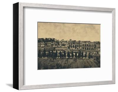 'Roma - Grand remains of the substructures of the palace of Septimius Severus', 1910-Unknown-Framed Photographic Print