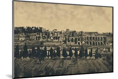 'Roma - Grand remains of the substructures of the palace of Septimius Severus', 1910-Unknown-Mounted Photographic Print