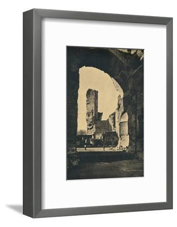 'Roma - Remains of the Baths of Caracalla on the Appian Way', 1910-Unknown-Framed Photographic Print