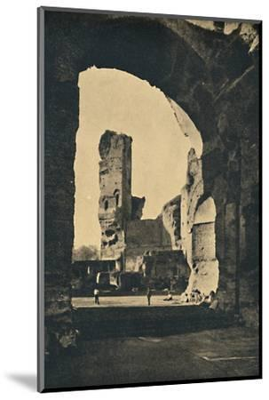 'Roma - Remains of the Baths of Caracalla on the Appian Way', 1910-Unknown-Mounted Photographic Print