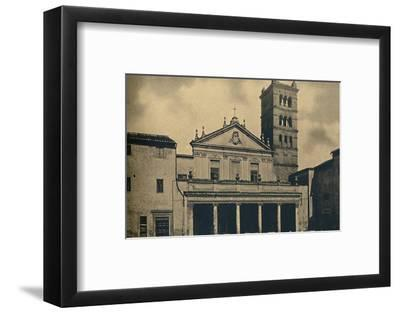 Roma - St. Caecilia's Church Temple by Bramante in the Cloisters of S. Pietro-Unknown-Framed Photographic Print