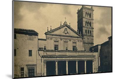 Roma - St. Caecilia's Church Temple by Bramante in the Cloisters of S. Pietro-Unknown-Mounted Photographic Print