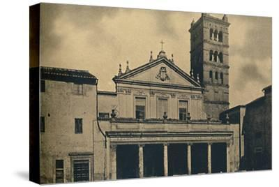 Roma - St. Caecilia's Church Temple by Bramante in the Cloisters of S. Pietro-Unknown-Stretched Canvas Print