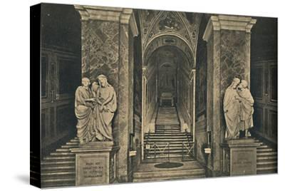 'Roma - Holy steps with the 28 marble Steps from the House of Pilate, brought to Rome by St. Helena-Unknown-Stretched Canvas Print