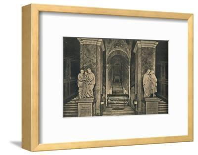 'Roma - Holy steps with the 28 marble Steps from the House of Pilate, brought to Rome by St. Helena-Unknown-Framed Photographic Print
