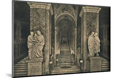 'Roma - Holy steps with the 28 marble Steps from the House of Pilate, brought to Rome by St. Helena-Unknown-Mounted Photographic Print