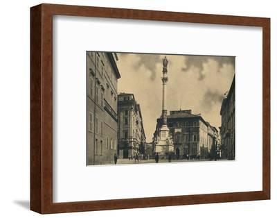 'Roma - Piazza di Spagna', 1910-Unknown-Framed Photographic Print