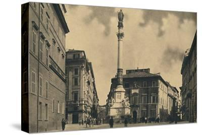 'Roma - Piazza di Spagna', 1910-Unknown-Stretched Canvas Print