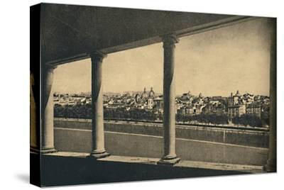 'Roma - View of the City from the Logia by Bramante in Castle St. Angelo', 1910-Unknown-Stretched Canvas Print