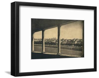 'Roma - View of the City from the Logia by Bramante in Castle St. Angelo', 1910-Unknown-Framed Photographic Print