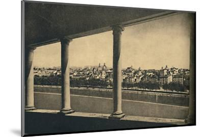 'Roma - View of the City from the Logia by Bramante in Castle St. Angelo', 1910-Unknown-Mounted Photographic Print