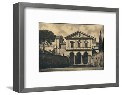'Roma - Basilica of S. Sebastian on the Appian Way', 1910-Unknown-Framed Photographic Print
