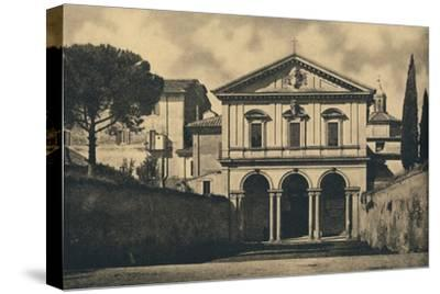 'Roma - Basilica of S. Sebastian on the Appian Way', 1910-Unknown-Stretched Canvas Print