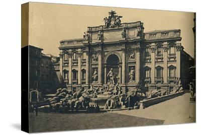 'Roma - Fountain of Trevi', 1910-Unknown-Stretched Canvas Print
