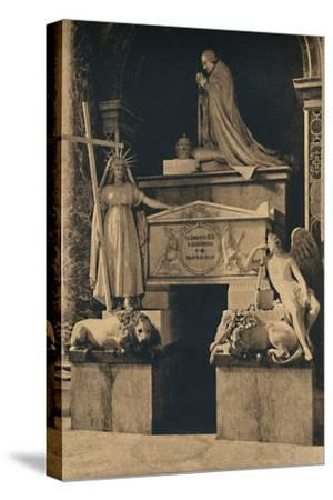 'Roma - Basilica of St. Peter - Tomb of Clement XIII, by Canova', 1910-Unknown-Stretched Canvas Print