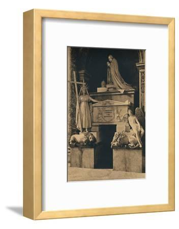 'Roma - Basilica of St. Peter - Tomb of Clement XIII, by Canova', 1910-Unknown-Framed Photographic Print