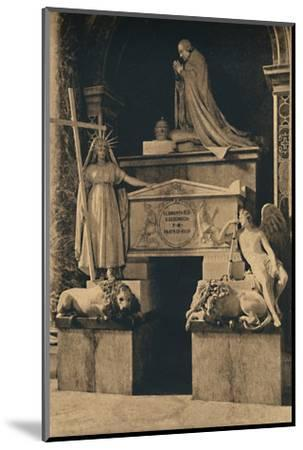 'Roma - Basilica of St. Peter - Tomb of Clement XIII, by Canova', 1910-Unknown-Mounted Photographic Print
