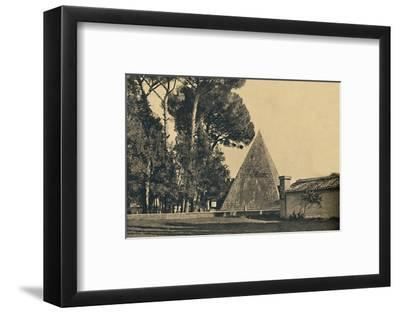 'Roma - Sepulchal pyramid of Caius Caestius - Gate of Saint Paul on the Ostia road', 1910-Unknown-Framed Photographic Print