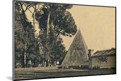 'Roma - Sepulchal pyramid of Caius Caestius - Gate of Saint Paul on the Ostia road', 1910-Unknown-Mounted Photographic Print