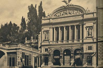 'Roma - Via Nazionale. National Dramatic Theatre and Colonna Villa', 1910-Unknown-Framed Photographic Print