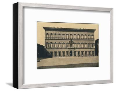 'Roma - Farnese Palace', 1910-Unknown-Framed Photographic Print