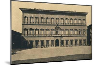 'Roma - Farnese Palace', 1910-Unknown-Mounted Photographic Print