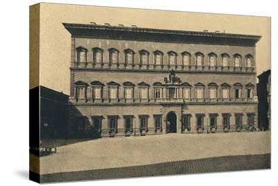 'Roma - Farnese Palace', 1910-Unknown-Stretched Canvas Print