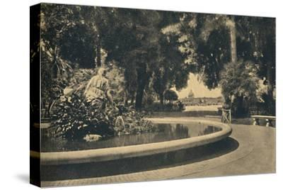 'Roma - The Pincio Park. Fountain of Moses, saved from the waters (by Brazza)', 1910-Unknown-Stretched Canvas Print