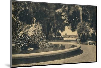 'Roma - The Pincio Park. Fountain of Moses, saved from the waters (by Brazza)', 1910-Unknown-Mounted Photographic Print