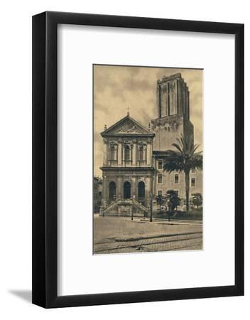 'Roma - Via Nazionale. Church of St. Catherine and the Tower of the Militie', 1910-Unknown-Framed Photographic Print