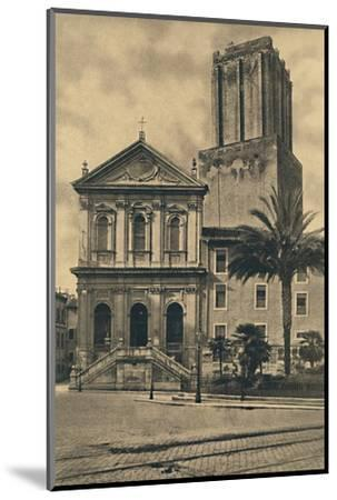 'Roma - Via Nazionale. Church of St. Catherine and the Tower of the Militie', 1910-Unknown-Mounted Photographic Print