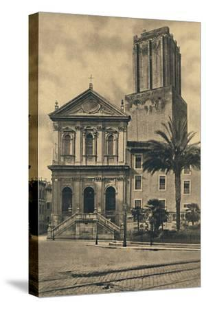 'Roma - Via Nazionale. Church of St. Catherine and the Tower of the Militie', 1910-Unknown-Stretched Canvas Print