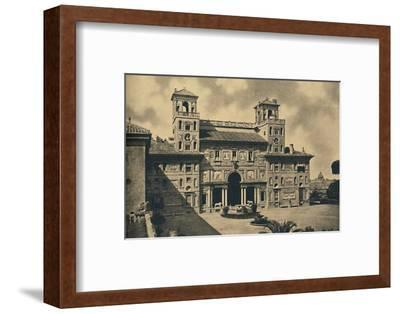 'Roma - Interior faþade of the French National Academy of Fine Arts, formerly Villa Medici', 1910-Unknown-Framed Photographic Print