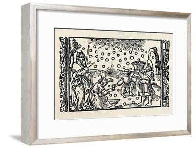 'Gathering Manna', 1539, (1903)-Unknown-Framed Giclee Print