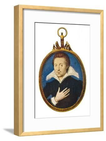'Sir Philip Sidney', c1580-1610, (1903)-Isaac Oliver I-Framed Giclee Print