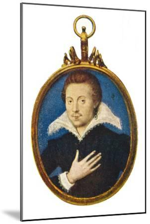 'Sir Philip Sidney', c1580-1610, (1903)-Isaac Oliver I-Mounted Giclee Print