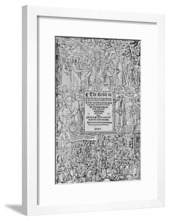 'Title-Page of the Great Bible, 1540, (1903)-Master of Francois de Rohan-Framed Giclee Print