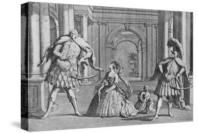 'Senesino on the Stage', 1725, (1904)-Unknown-Stretched Canvas Print