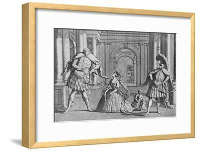 'Senesino on the Stage', 1725, (1904)-Unknown-Framed Giclee Print