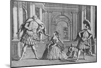 'Senesino on the Stage', 1725, (1904)-Unknown-Mounted Giclee Print