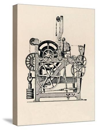 'Power Loom (Side View)', 1836, (1904)-Unknown-Stretched Canvas Print